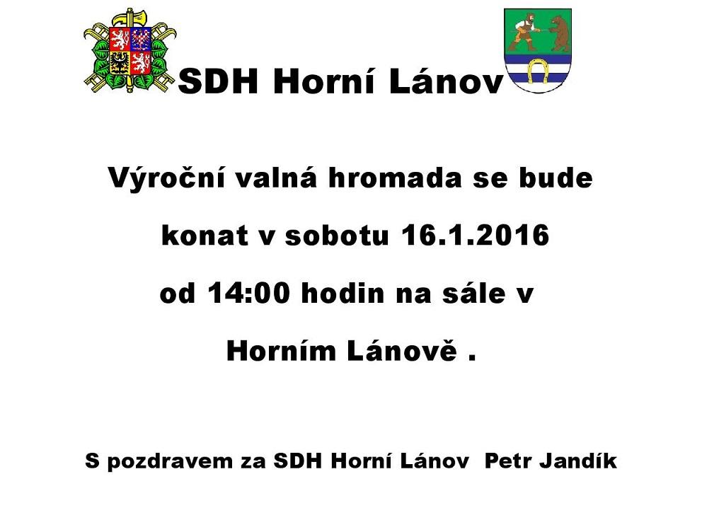 VVH SDH Horní Lánov